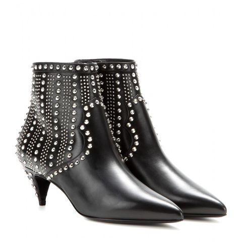 Boot, Black, Leather, Knee-high boot, Silver, Still life photography,