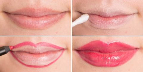 Risultati immagini per Applicare il rossetto oltre il contorno delle labbra per renderle più grandi