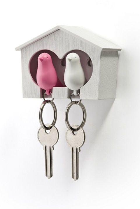 Le chiavi di casa in un nido d'amore
