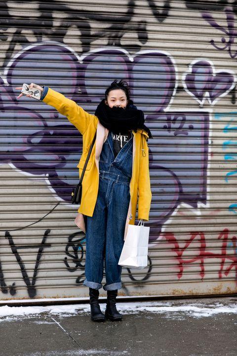 Jeans, Denim, Jacket, Purple, Boot, Street fashion, Winter, Cool, Graffiti, Street art,