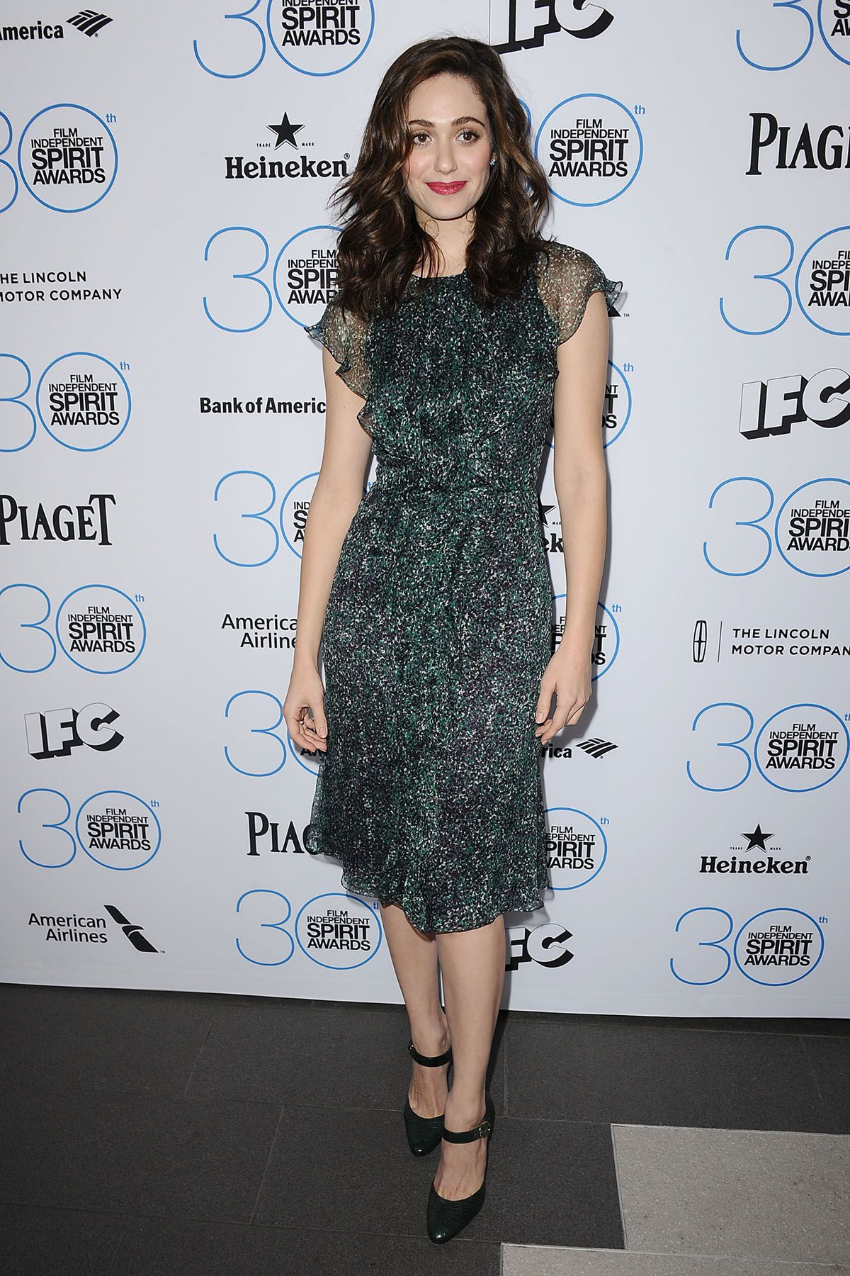 WEST HOLLYWOOD, CA - JANUARY 10:  Actress Emmy Rossum attends the 2015 Film Independent filmmaker grant and Spirit Awards nominees brunch at BOA Steakhouse on January 10, 2015 in West Hollywood, California.  (Photo by Jason LaVeris/FilmMagic)