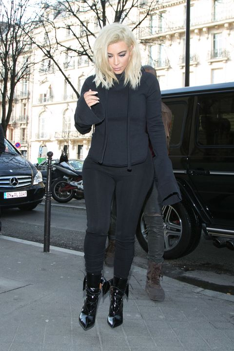 PARIS, FRANCE - MARCH 06:  Kim Kardashian West is seen on March 6, 2015 in Paris, France.  (Photo by Marc Piasecki/GC Images)