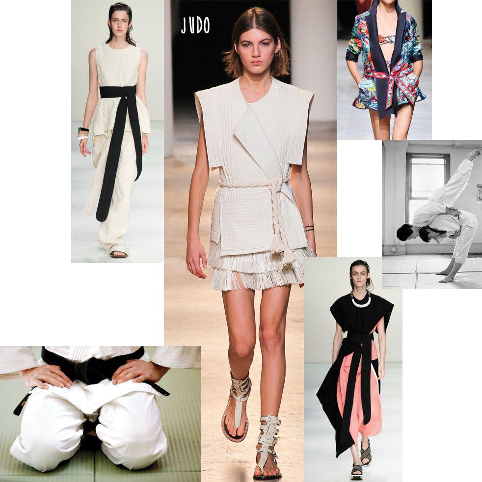 <div><strong>Arriva da Oriente</strong> la divisa delle arti marziali:&nbsp&#x3B;mezzi kimono, cinture nere e forme a&nbsp&#x3B;pannelli sovrapposti. <strong>Usa il nero come contrappunto</strong>, scegli&nbsp&#x3B;gioielli di resina dalle forme grandi e geometriche e punta su gonne e&nbsp&#x3B;pantaloni a portafoglio e&nbsp&#x3B;casacche dalle maniche disegnate.</div><div></div><div><strong>Sfilate: </strong>Marni, Isabel Marant, Leonard</div>