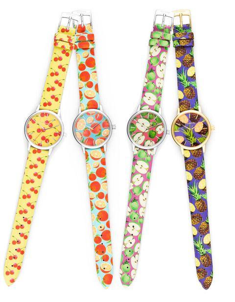I modelli di <strong>orologio Gitana</strong> si ricoprono di frutta: ciliegie, arance, mele e ananas