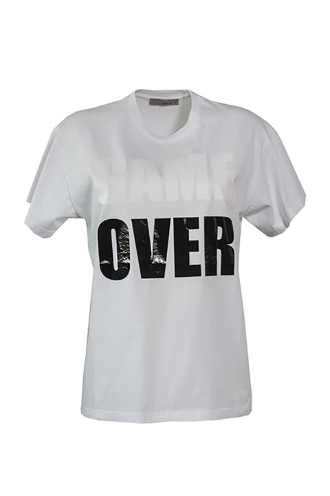"T-shirt in cotone con scritta ""Game Over"""