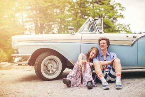 Vehicle, Automotive design, Automotive exterior, Photograph, Vehicle door, Classic car, Automotive tire, Fender, Summer, Classic,