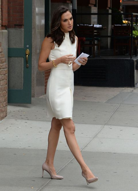 NEW YORK, NY - JULY 14: Actress Gal Gadot is seen walking in Soho  on July 14, 2015 in New York City.  (Photo by Raymond Hall/GC Images)
