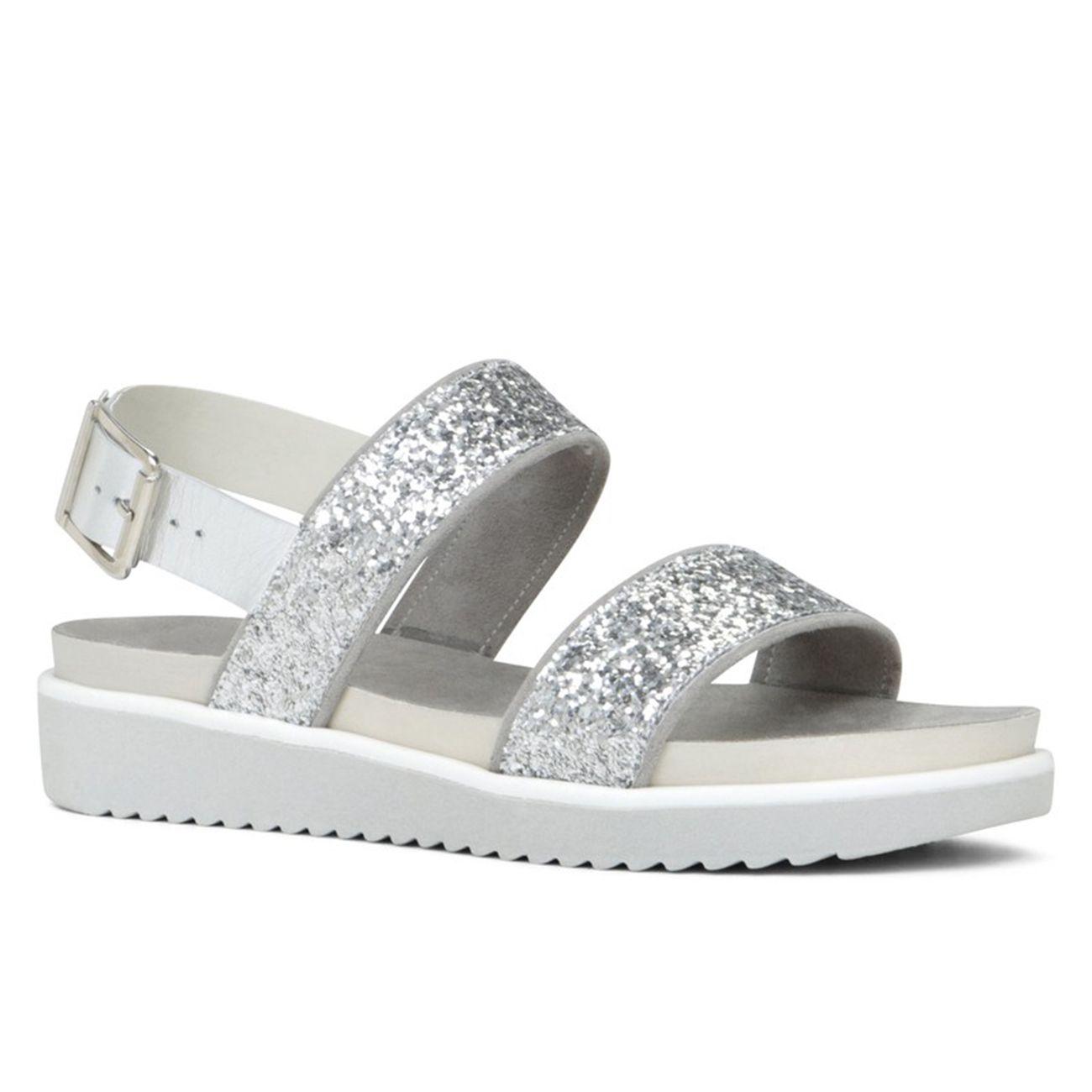 Sandalo con suola rialzata e fasce glitter, <strong>Aldo</strong>