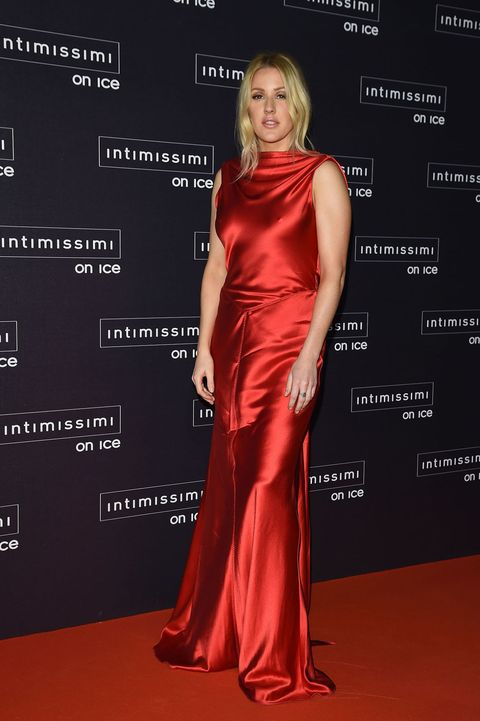 VERONA, ITALY - OCTOBER 09:  Ellie Goulding attends Intimissimi On Ice 2015 on October 9, 2015 in Verona, Italy.  (Photo by Venturelli/Getty Images)