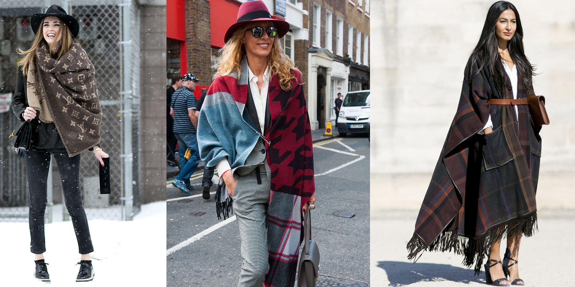 godere del prezzo più basso dove comprare seleziona per ultimo Come indossare lo scialle, la sciarpa XL e la mantella sui ...