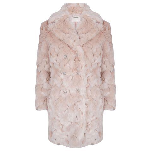 Cappotto in pelliccia ecologica rosa bay 8d167f880707
