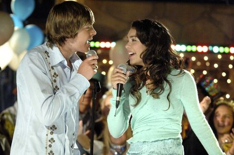 HIGH SCHOOL MUSICAL-Disney Channel Original Movie &quot&#x3B;High School Musical&quot&#x3B; tells the story of two high school students - Troy (Zac Efron), a popular basketball player and Gabriella (Vanessa Anne Hudgens), a shy, brainy newcomer - who share a secret passion for singing.  When these two seemingly polar opposites decide to join forces and go out for the lead roles in the school musical, it wreaks havoc on East High&apos&#x3B;s rigid social order.  But by defying expectations and pursuing their dreams, Troy and Gabriella inspire other students to go public with some surprising hidden talents of their own.  &quot&#x3B;High School Musical&quot&#x3B; premieres FRIDAY, JANUARY 20 (8:00 p.m., ET/PT) on Disney Channel.&#xA&#x3B;(DISNEY CHANNEL/FRED HAYES)&#xA&#x3B;