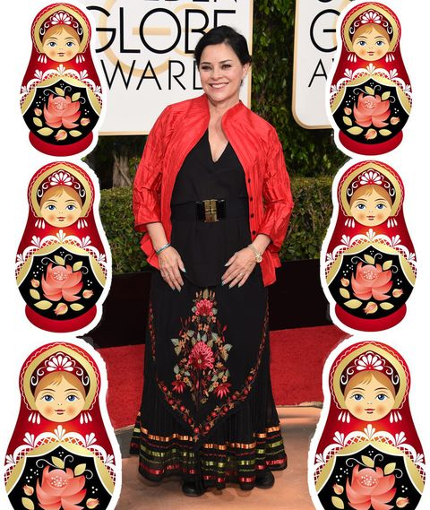 Diana Gabaldon arrives at the 73nd annual Golden Globe Awards, January 10, 2016, at the Beverly Hilton Hotel in Beverly Hills, California. AFP PHOTO / VALERIE MACON / AFP / VALERIE MACON        (Photo credit should read VALERIE MACON/AFP/Getty Images)