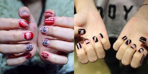 Negative space nail nail art instagram