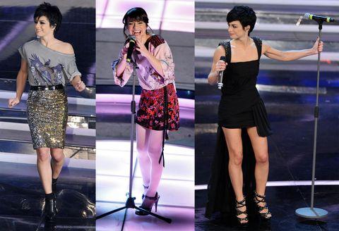 <p>LOOK EVOLUTION: da Glitter Rockeuse a Figlia dei Fiori in Collant a Dark Lady in Minigonna</p>