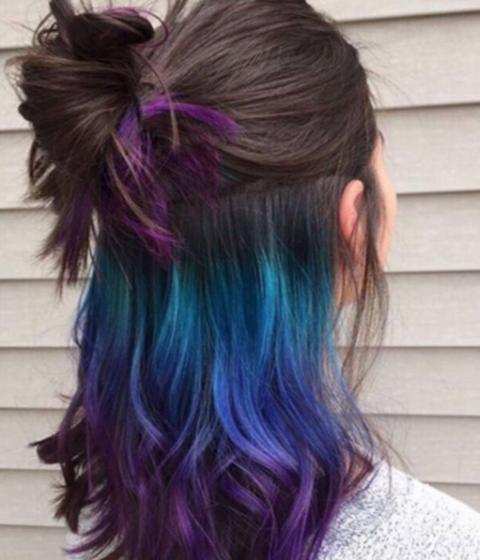 Underlights  i colpi di colore nascosti sotto i capelli dd982ee438b4