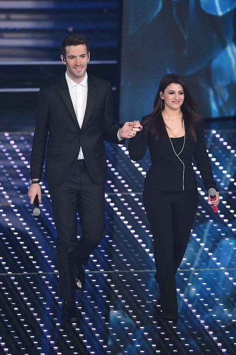 Giovanni Caccamo e Deborah Iurato alla finale del Festival di Sanremo 2016