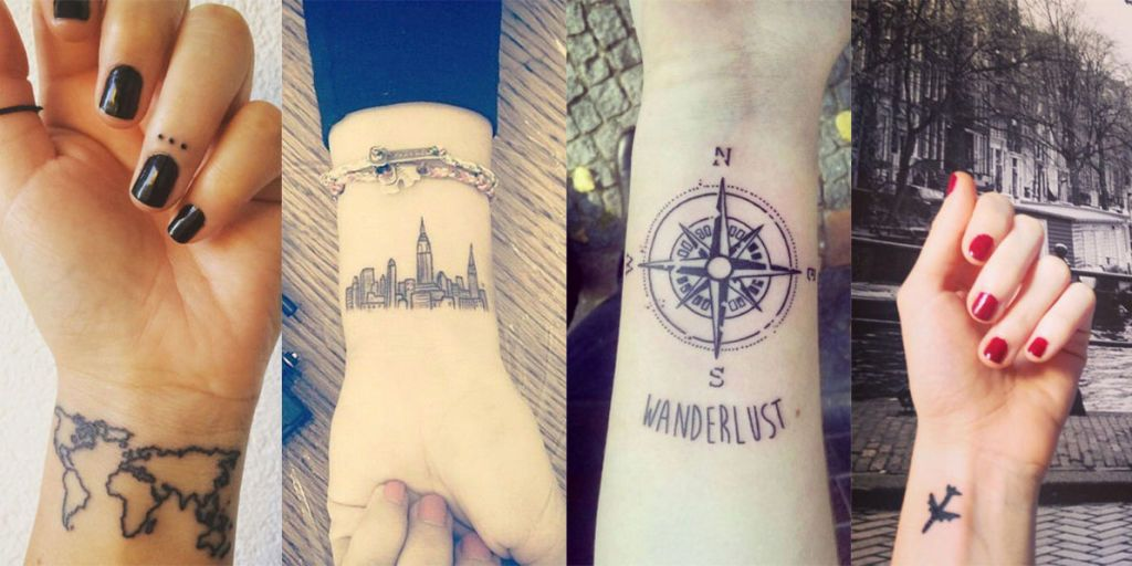 Preferenza Travel tattoo: 36 tatuaggi per chi ama viaggiare HR73