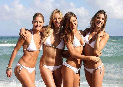 Leg, Smile, Fun, Brassiere, Skin, Swimsuit top, Photograph, Bikini, Happy, Summer,