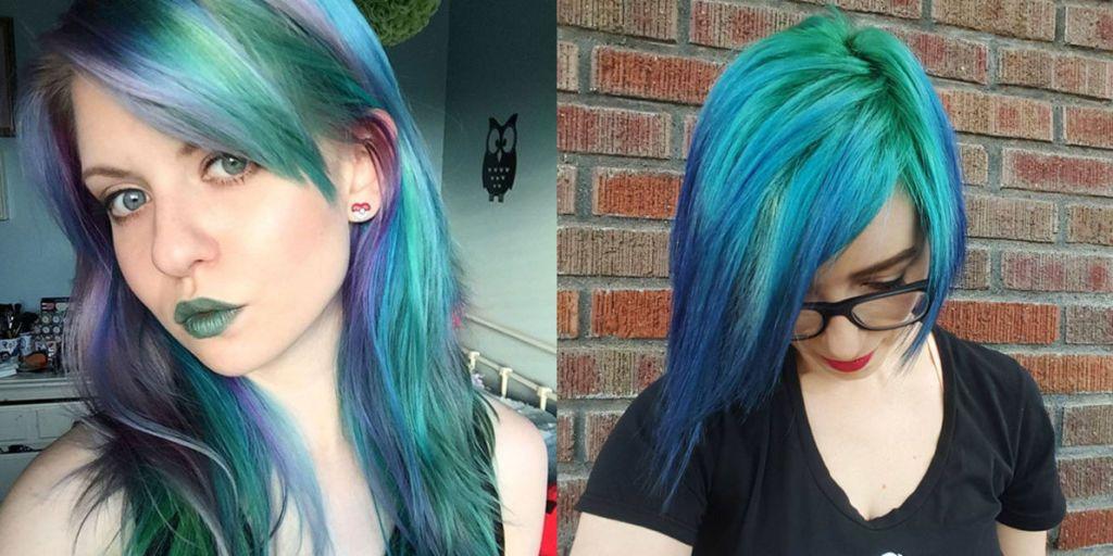 capelli verdi blu instagram
