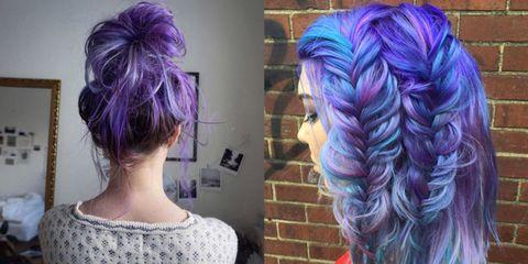 Capelli viola e blu  le ispirazioni da Instagram 3187f5354b08