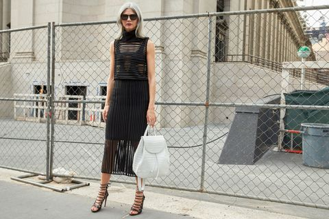 Dress, Sunglasses, Wire fencing, Style, Street fashion, Mesh, Bag, One-piece garment, Waist, Waste container,