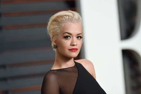 BEVERLY HILLS, CA - FEBRUARY 22:  Actress/singer Rita Ora arrives at the 2015 Vanity Fair Oscar Party Hosted By Graydon Carter at Wallis Annenberg Center for the Performing Arts on February 22, 2015 in Beverly Hills, California.  (Photo by Axelle/Bauer-Griffin/FilmMagic)