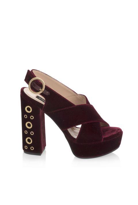 quality design 19fc7 9e3ed Le scarpe donna in velluto dell'inverno 2016 sono sandali e ...