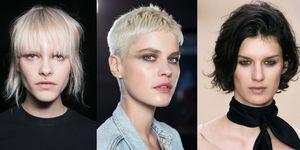 Tre modelle mostrano i tagli corti 2017