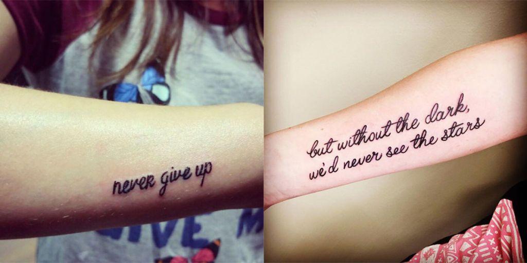 Popolare Le 25 frasi più belle da tatuare sulla vita e sull'amore HH36