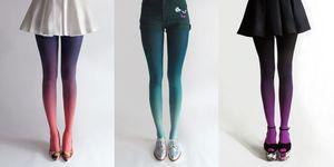 Collant colorati: indossali sfumati in due colori oppure abbinati alle scarpe