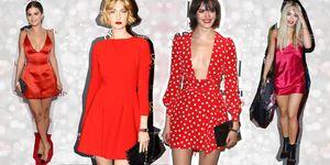 Guarda le immagini dei vestiti eleganti, corti e rossi da indossare la notte di Capodanno 2017.