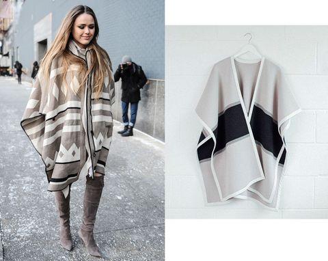 6 stili e modi di indossare la mantella e il poncho quest'inverno
