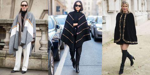 6 stili e modi per indossare la mantella e il poncho questo inverno