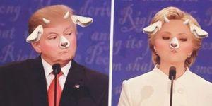 hillary clinton donald trump elezioni snapchat