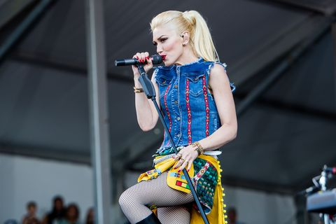 NEW ORLEANS, LA - MAY 01:  Gwen Stefani of No Doubt performs at the New Orleans Jazz &amp&#x3B; Hertitage Festival at the Fair Grounds Race Course on May 1, 2015 in New Orleans, Louisiana.  (Photo by Josh Brasted/WireImage)