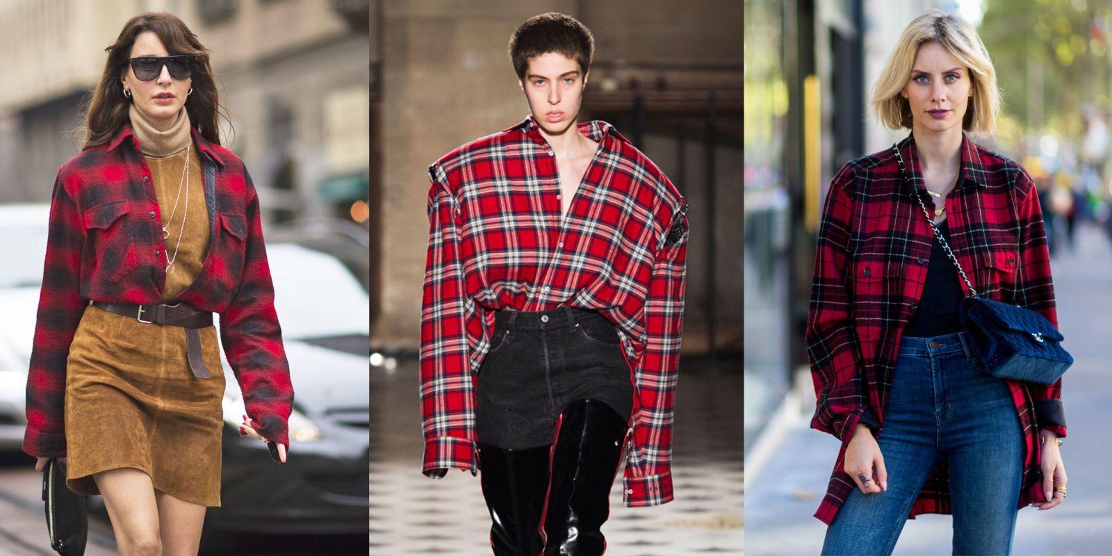 Glam Indossarla A E Per Modi Nera4 Camicia Quadri Rossa nO08wPkX