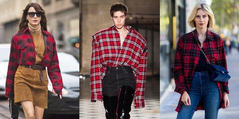 770a65e83daa1b La camicia a quadri rossa e nera è di moda: guarda come indossarla in  maniera