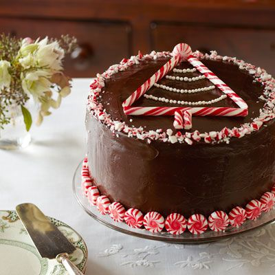 """<p>Chocolate and peppermint is a classic holiday combination, and when paired together in this rich cake, they make a delectably festive dessert.</p> <p><strong>Recipe:</strong> <a href=""""http://www.delish.com/recipefinder/peppermint-chocolate-layer-cake-recipe-ghk1211""""><strong>Peppermint-Chocolate Layer Cake</strong></a></p>"""
