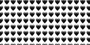 emoji cuore nero