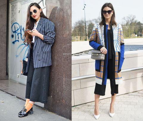 Guarda come si indossano i pantaloni culottes e scopri gli abbinamenti più alla moda per la primavera estate 2017.