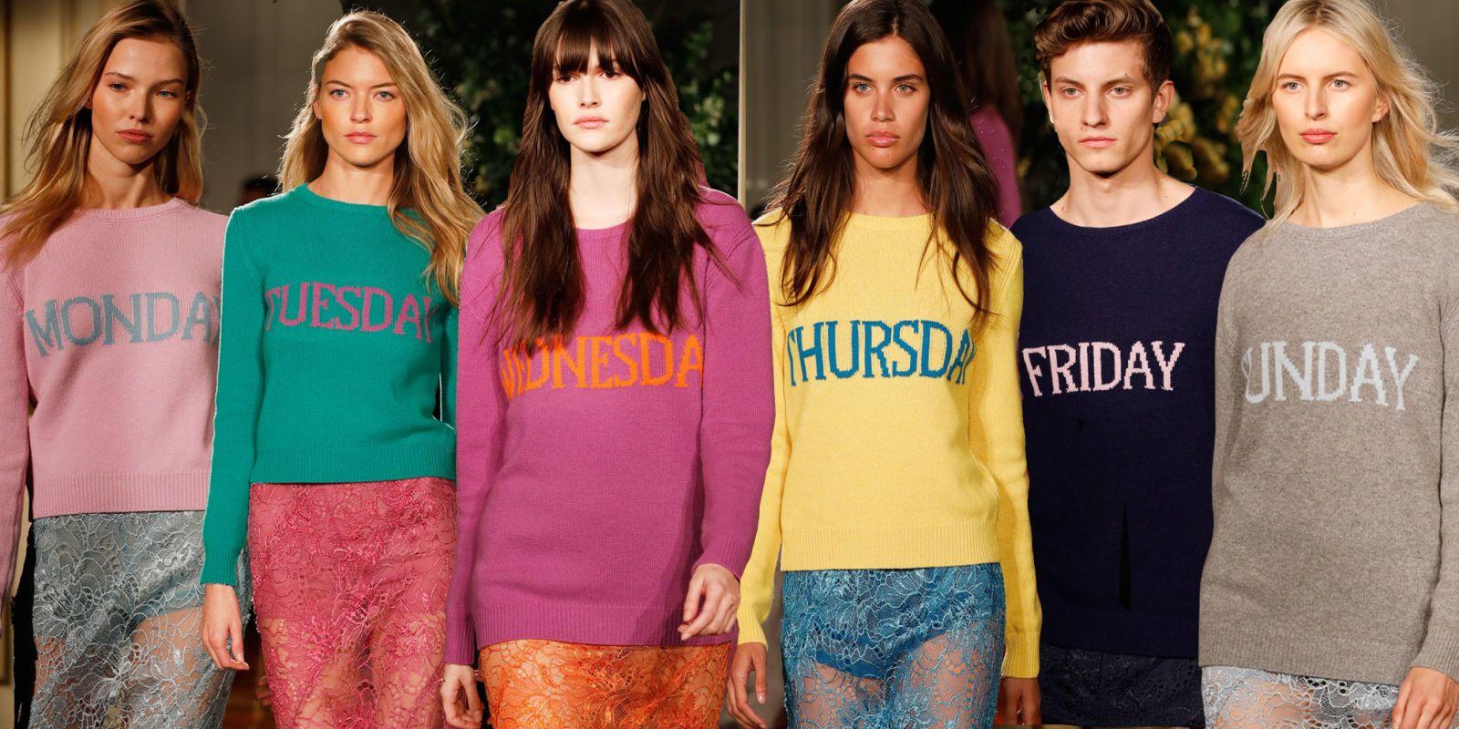 I vestiti arcobaleno con i giorni della settimana in inglese sono  l\u0027antidoto al malumore