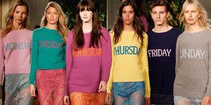 I vestiti arcobaleno con i giorni della settimana in inglese sono l'antidoto al malumore e ai giorni no: indossali con ironia su slip e underwear per un effetto sorpresa