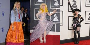 grammy red carpet look pazzi