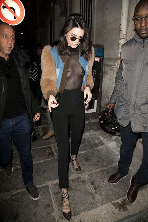 PARIS, FRANCE - JANUARY 21:  Kendall Jenner is seen on January 21, 2017 in Paris, France.  (Photo by Marc Piasecki/GC Images)