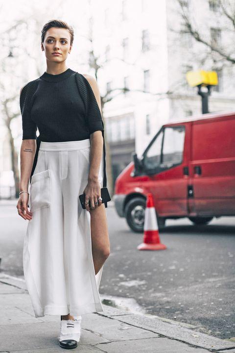 Guarda come abbinare le francesine basse e quali sono gli outfit donna di tendenza per la moda primavera estate 2017