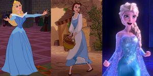 principesse Disney vestite di blu