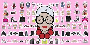A 95 anni Iris Apfel diventa protagonista di 42 Emoji dedicate a lei, al suo stile e alle sue frasi: se sei una sua fan, come non esserlo, devi averle assolutamente.