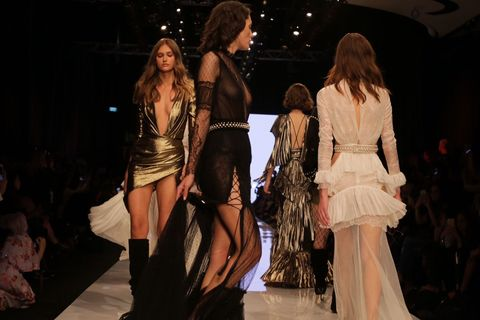 Fashion model, Fashion, Fashion show, Runway, Event, Fashion design, Haute couture, Public event, Model, Dress,