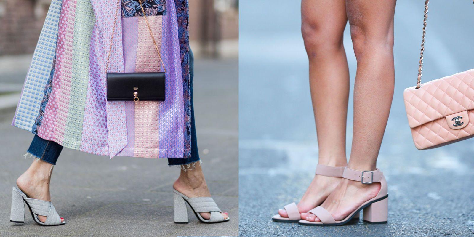 10 modelli di scarpe e sandali con tacco basso e largo per